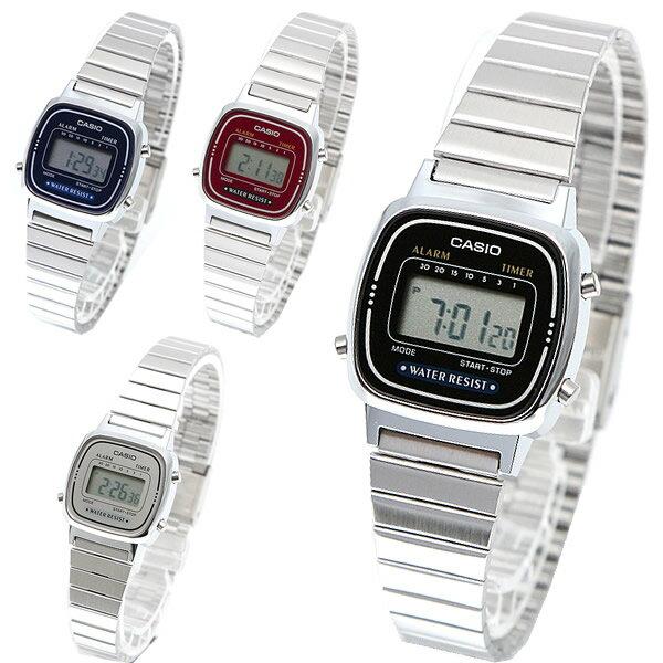 カシオ 腕時計 レディース CASIO STANDARD DIGITAL LADYS デジタル チプカシ チープカシオ プチプラ メタルベルト【メール便で送料無料】
