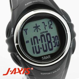 男子的J-AXIS手表サンフレイムSRC01-BK
