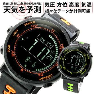 在感應器數位指南針瑞士取得 / 高度計 / 氣壓計 / 溫度計 / 天氣預測數位手錶男士女士手錶男子婦女體育培訓 / 飲食 / 行使 / 攀爬的人喜歡觀看室外計時碼表限量版