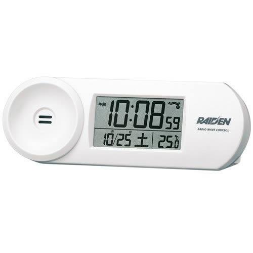 お一人様1個限り セイコークロック SEIKO CLOCK ライデン RAIDEN 大音量デジタル 電波目覚まし時計 nr532 NR532W