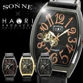 自动拧SONNE×HAORI PRODUCED KOICHI IWAKI限定协作表,并且是男子腕時計岩城滉一h005