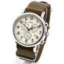 TIMEX タイメックス 腕時計 TW2P71400 WEEKENDER / ウィークエンダー クロノグラフ ミリタリーウォッチ メンズ レディース 時計 アナログ ミリタリー カジュアル クリーム
