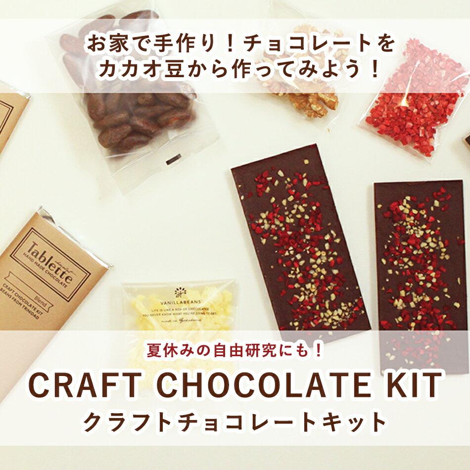 自由研究 キット 夏休み 送料無料 クラフトチョコレートキット バニラビーンズ チョコレート 手作り ネコポス