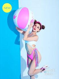 水着 Color ME. カラーミー[ホワイト×ピンク] ビーチ リゾート レディース(Sサイズ) vsw-pl355-1