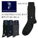 靴下 メンズ WESTERN POLO 太リブ (履き口ゆったり) 大きいサイズ 201212891 150 綿混 ビジネス ソックス 紳士 紺 メンズ 男 大...