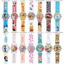 腕時計 ディズニー キッズ リストウォッチ 革ベルト 1500 ミッキー ミニー カーズ プリンセス アリエル チップ&デー…