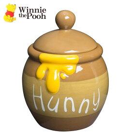 くまのプーさん ハニーポット 1580 SAN2883 ディズニー Disney くまのぷーさん WinniethePooh キャラクター グッズ 食器 壺 ツボはちみつ ハチミツ かわいい インスタ映え インテリア プレゼント 通販 キャニスター おしゃれ 調味料入れ 陶器