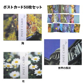 写真 ポストカード 50枚セット 海 花 世界 風景 自然 魚 写真 教育 通販 訳あり商品 激安 はがき ハガキ カード セール
