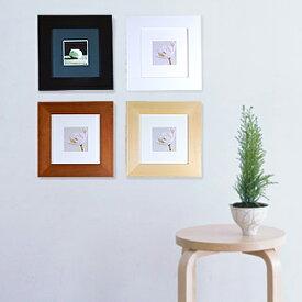 万丈 木製 額縁・フォトフレーム プレタイム(Pretime)15角インテリアに正方形のおしゃれなフレーム 壁掛け/置き兼用