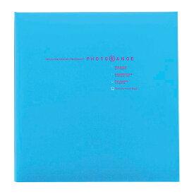 貼り付けアルバム 白フリー台紙20枚(40ページ) ナカバヤシ/フエルアルバム/Lサイズ フォトレンジ ブルー20L-92-B