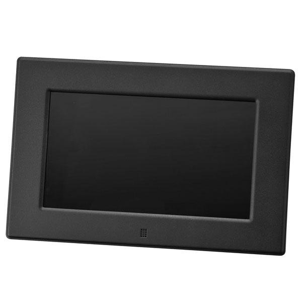 【送料無料】GREENHOUSE グリーンハウス 7インチ デジタルフォトフレーム(800×480) ブラック GH-DF7V-BK 7型 ワイド高解像度液晶搭載