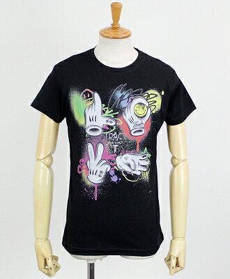 """Tract(トラクト) プリント Tシャツ """"GRAFFITI LOVE"""" [TR133AM] BLACK"""