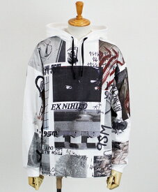1017 ALYX 9SM(アリクス) 総柄パーカー HOODED TEE ALL OVER PRINT [AAMTS0050FA01] WHITE