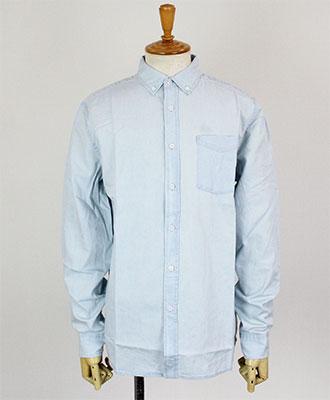 Saturdays NYC(サタデーズ ニューヨークシティ) デニムシャツ Crosby Denim L/S Shirt [AA0020CR01] Washed Indigo