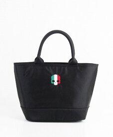 HYDROGEN / ハイドロゲン / イタリアスカル刺繍ミニジップトート/ITALY SKULL MINI ZIP TOTE BAG / ブラック(150)