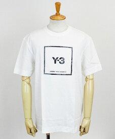 Y-3(ワイスリー) スクエアラベル グラフィック S/S Tシャツ M 3 STP SS TEE [GV6061-APPS21] WHITE
