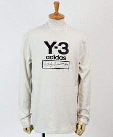 Y-3(ワイスリー) ロゴ L/S Tシャツ M STACKED LOGO LS TEE [FJ0407-APPA19] ECRU