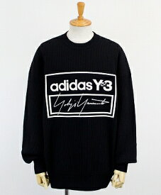 Y-3(ワイスリー) ロゴ クルーニット U TECH KNIT CREW SWEATER [FJ0374-APPA19] BLACK/ECRU