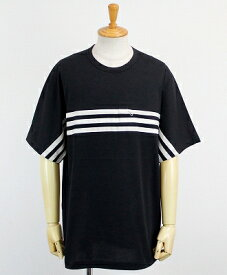 Y-3(ワイスリー) 3ストライプ S/S Tシャツ M 3STP PACKABLE SS TEE [FJ0414-APPA19] BLACK/ECRU