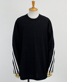 Y-3(ワイスリー) 3ストライプ L/S Tシャツ M 3STP PACKABLE LS TEE [FJ0412-APPA19] BLACK/ECRU