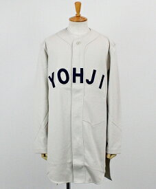 Y-3(ワイスリー) ロゴベースボールシャツ M FT YOHJI LETTERS BASEBALL SHIRT [FJ0435-APPA19] ECRU/LEGEND INK