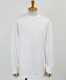 Y-3(ワイスリー) ロゴ L/S Tシャツ M CLASSIC CHEST LOGO LS TEE [FN3362-APPS20] CORE WHITE