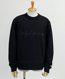 Y-3(ワイスリー) ロゴ クルーネックスウェット M DISTRESSED SIGNATURE CREW SWEATSHIRT [FP8689-APPS20] BLACK