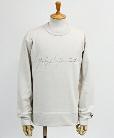 Y-3(ワイスリー) ロゴ クルーネックスウェット M DISTRESSED SIGNATURE CREW SWEATSHIRT [FP8690-APPS20] ECRU