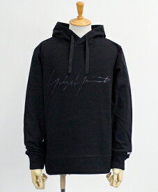 Y-3(ワイスリー) ロゴ プルオーバーパーカー M DISTRESSED SIGNATURE HOODIE [FP8691-APPS20] BLACK