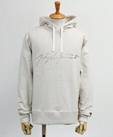 Y-3(ワイスリー) ロゴ プルオーバーパーカー M DISTRESSED SIGNATURE HOODIE [FP8692-APPS20] ECRU
