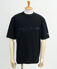 Y-3(ワイスリー) ロゴ S/S Tシャツ M DISTRESSED SIGNATURE SS TEE [FQ4114-APPS20] BLACK