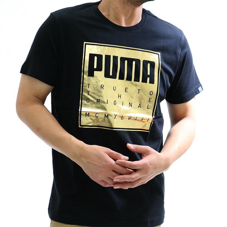 PUMA(プーマ)ラバープリントtシャツ/メンズ/綿100%/半袖/tシャツ/594495/吸水速乾/送料無料