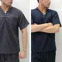 クレープ ヘンリーネックシャツ ポケット Tシャツ
