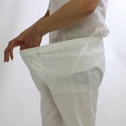 ステテコ高島ちぢみ日本製2枚セット白綿100%春夏用クレープ生地7分丈ズボン下ステテコメンズ14-102夏に涼しい