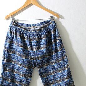 日本製 和柄 ステテコ ショート丈 メンズ 染めくらべ バックポケット付き すててこ 泉州木綿100% ハーフパンツ ステテコポケット付き 涼しい 春夏
