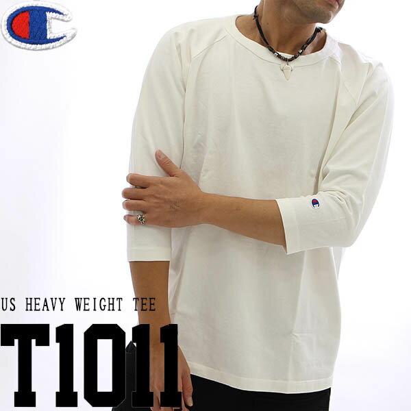 Champion(チャンピオン)T1011(ティーテンイレブン) ラグラン3/4スリーブ【7分袖】Tシャツ 18FW MADE IN USA チャンピオン(C5-U401)
