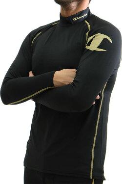 Championチャンピオンスポーツ長袖モックネックロングスリーブTシャツメンズストレッチインナー吸汗速乾消臭ダブルドライCM4HH531S送料無料
