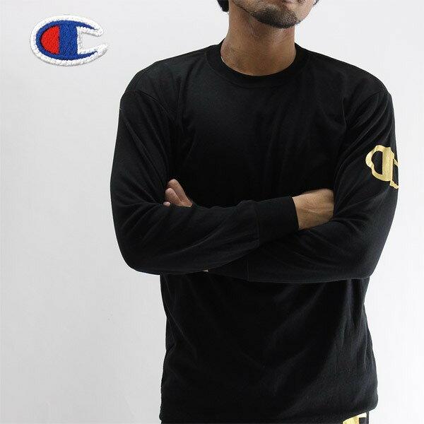 在庫処分 Champion(チャンピオン)部屋着長袖tシャツ ロンt/C24H007