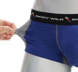 2点購入で送料無料)グンゼBODYWILD(ボディワイルド)前とじローライズボクサーパンツ内側ポケット付き(ハイマルチエステルベア天)(吸汗速乾ストレッチメッシュ)BWP915G日本製