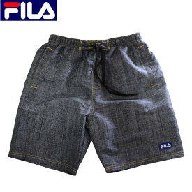 送料無料FILA(フィラ)サーフパンツ/メンズ/春夏/デニム柄/スイムウエア/メッシュインナー付き/ポケット付き/サーフショーツ/427-230/水着