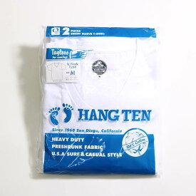 HANG TEN(ハンテン)メンズ【2枚組み】半袖Vネックtシャツ 2枚セット HANGTEN TS005 コットンtシャツ