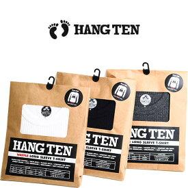 HANG TEN(ハンテン)メンズ ワッフル生地 長袖クルーネックtシャツ HANGTEN LTS001 ワッフルtシャツ