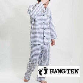 HANG TEN(ハンテン)メンズ 春夏 パジャマ 上下セット 長袖長パンツ上下組み 涼しいサッカー生地楽天