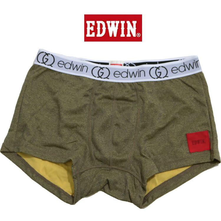 送料無料1000円ポッキリ EDWIN(エドウィン)杢カラーボクサーパンツ  前とじ