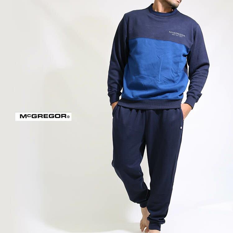 送料無料 McGREGOR(マックレガー)スウェットパジャマ上下セット 上下組みセットアップ メンズ