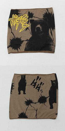送料無料日本製FDSアニマル柄腹巻きクマ柄熊ハラマキ(東レのマイクロアクリルエアウォーム素材)