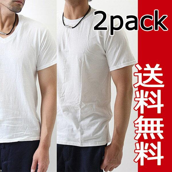 ヘインズ Hanes 2枚セット 綿100% メンズ半袖Tシャツ 2p パックt メンズ インナー 2枚組 ヘインズ tシャツ
