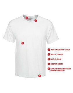 送料無料2枚セット綿100%メンズインナーTシャツ(Vネック)(丸首)【RCP】【男性白下着2P年間定番肌着】【2枚組|福袋】