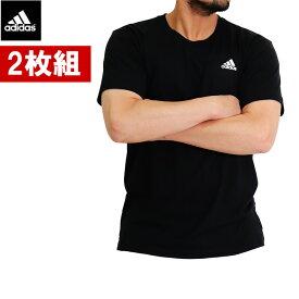 【2枚セット】アディダス tシャツ 吸汗速乾 丸首 メンズ adidas Tシャツ アディダス tシャツ アディダスtシャツ ワンポイント