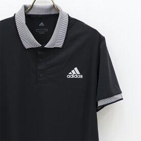 adidas アディダス ポロシャツ メンズ 吸汗速乾 襟がおしゃれ 可愛い 襟袖ストライプ 襟付き アディダス ポロシャツ メンズ ポロ シャツ